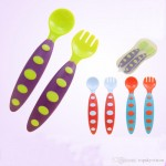 SAFETY SOFT BABY TEMPERATURE SENSING SPOON - BLUE