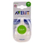Philips Avent Airflex Silicone Nipple Slow Flow Bottle Teat 1m+ 2-pack