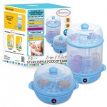 AUTUMNZ 2-in-1 Electric Sterilizer & Food Steamer (Blue)