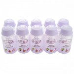Autumnz - B/milk Storage Bottles (10 btls) -Lilac Sweeties