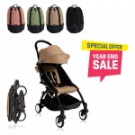 BABYZEN YOYO Plus 6+ (Black Frame + Taupe) FREE TROLLY BAG