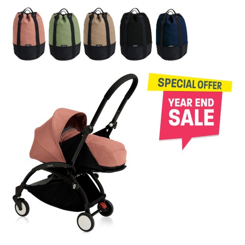 BABYZEN YOYO Plus 0+ (Black Frame + Ginger) FREE TROLLY BAG