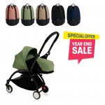 BABYZEN YOYO Plus 0+ (Black Frame + Peppermint) FREE TROLLY BAG