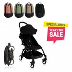 BABYZEN YOYO Plus 6+ (Black Frame + Black) FREE TROLLY BAG