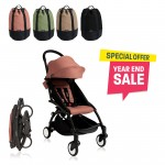 BABYZEN YOYO Plus 6+ (Black Frame + Ginger) FREE TROLLY BAG