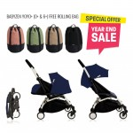 BABYZEN YOYO Plus 0+ 6+ (Black Frame + Air France) FREE TROLLY BAG
