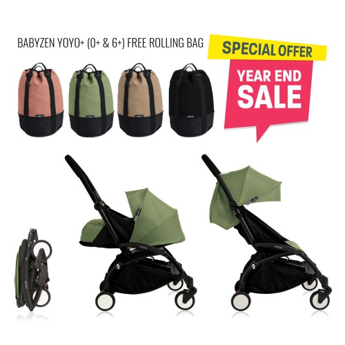 BABYZEN YOYO Plus 0+ 6+ (Black Frame + Peppermint) FREE TROLLY BAG