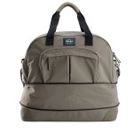 Roll over image to zoom in BEABA Amsterdam ll Smart Colors Expendable Changing Bag (Taupe and Black)
