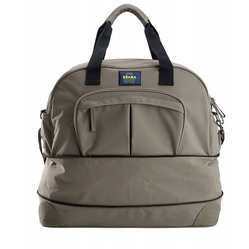 Beaba Amsterdam Ll Smart Colors Expendable Changing Bag Taupe And Black
