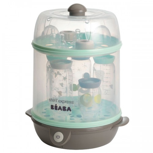 Beaba Steril Express 2 in 1: Electric steam sterilizer pastel blue