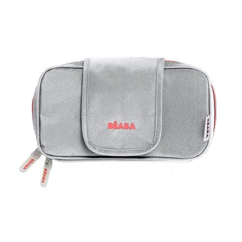 Beaba Wipe Case (Grey/Coral)
