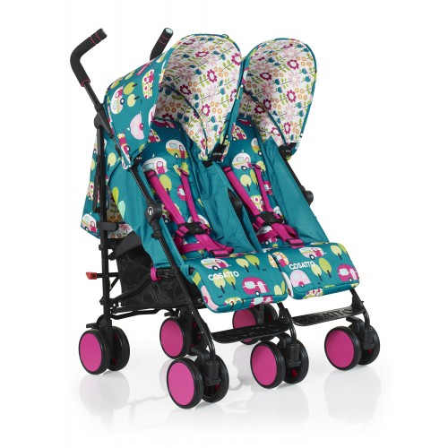 Cosatto Supa Dupa Go Twin Stroller - Happy Campers