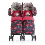 Cosatto Supa Dupa Twin Stroller - Flamingo Fling
