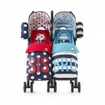 Cosatto Supa Dupa Twin Stroller - Sis and Bro