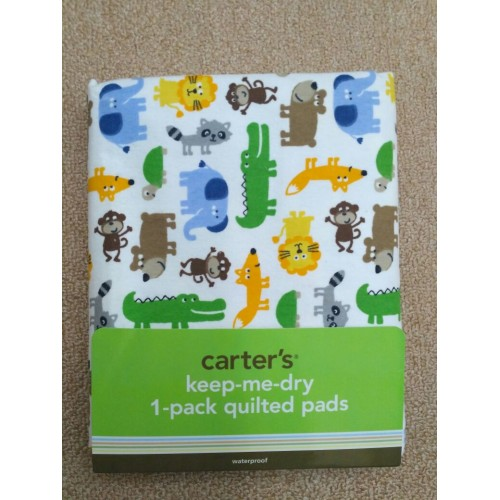 CARTER'S Keep-me-dry Quilted Pad - Colourful Wild Animals