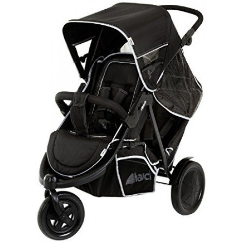 HAUCK FREERIDER TWIN/SINGLE STROLLER - Black
