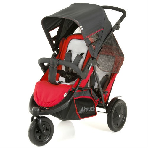 HAUCK FREERIDER TWIN/SINGLE STROLLER - Red