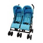 HALFORD Fliplite Twin Stroller - Turquoise