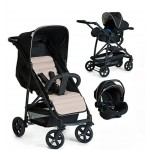 Hauck Rapid 4 Travel System Zero Plus Carrier - Caviar Black