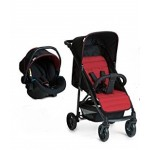 Hauck Rapid 4 Travel System Zero Plus Carrier - Caviar Tango (Red)