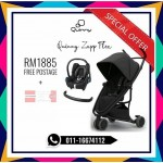 Quinny Zapp Flex Black On Black Free Maxi Cosi & Bumper Bar (LIMITED TIME)