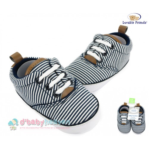 LUVABLE FRIENDS Striped Sneakers - Navy