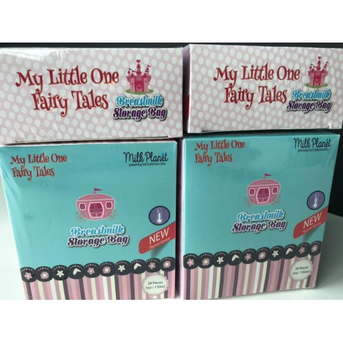 MILK PLANET - MY LITTLE ONE FAIRY TALE STORAGE BAGS (5OZ/150ML) 28PCS