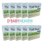 MILK PLANET Double Zip Lock Storage Breastmilk 7oz x 25pcs (10 BOXES)