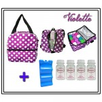 MILKY COOLER BAG - Viollete COMPLETE SET 4PCS BOTTLE