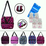 MILKY COOLER BAG - Lovely Pink COMPLETE SET 4PCS BOTTLE