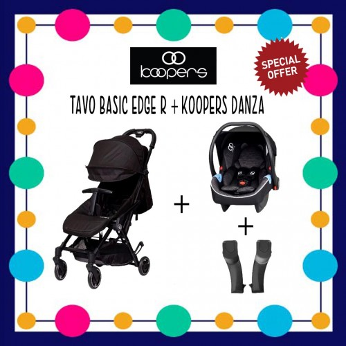 KOOPERS TAVO BASIC EDGE R & DANZA COMBO (PREMIUM BLACK ) FREE ADAPTOR WORTH RM59