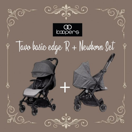 KOOPERS TAVO BASIC EDGE R + NEWBORN SET ( SILVER GREY )