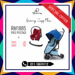 Quinny Zapp Flex Blue On Sky Free Maxi Cosi & Bumper Bar (LIMITED TIME)