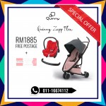 Quinny Zapp Flex Graphite On Blush Free Maxi Cosi & Bumper Bar (LIMITED TIME)