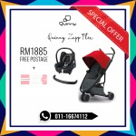 Quinny Zapp Flex Red On Graphite Free Maxi Cosi & Bumper Bar (LIMITED TIME)