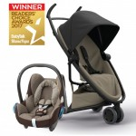 QUINNY Zapp Flex Black on Sand and Maxi-Cossi CabrioFix