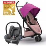 QUINNY Zapp Flex Pink on Blush and Maxi-Cossi CabrioFix