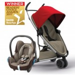 QUINNY Zapp Flex Red on Sand and Maxi-Cossi CabrioFix