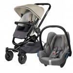 Quinny Buzz Xtra 4 - Reworked Grey and Maxi-Cosi CabrioFix