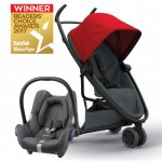 QUINNY Zapp Flex Red on Graphite and Maxi-Cossi CabrioFix