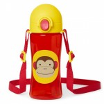 SKIP HOP Zoo Lock Top Sports Bottles Monkey