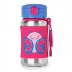 SKIP HOP Zoo Stainless Steel Bottle Butterfly