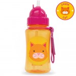 SKIP HOP Zoo Straw Bottle (Chase Cat)