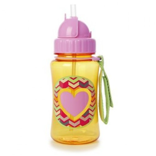 SKIP HOP Forget Me Not Straw Bottle (Heart)