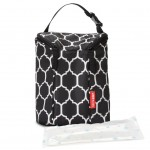 SKIP HOP Grab & Go Double Bottle Bag (Onyx Tile)