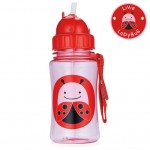 SKIP HOP Zoo Straw Bottle (Livie Ladybug)