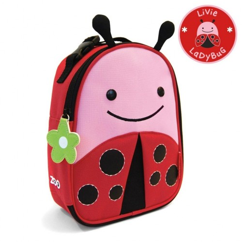 SKIP HOP Zoo Lunchie Insulated Kids Lunch Bag (Ladybug)