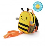SKIP HOP Zoo Let Mini Backpack With Rein (Bee)