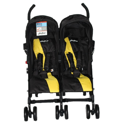 HALFORD Fliplite Twin Stroller - Black