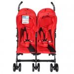 HALFORD Fliplite Twin Stroller - Tulip (Red)